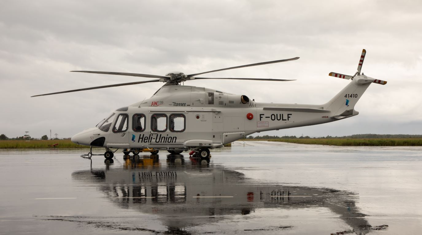 HELI-UNION LEASED A NEW AW139 HELICOPTER FOR GABON OPERATIONS