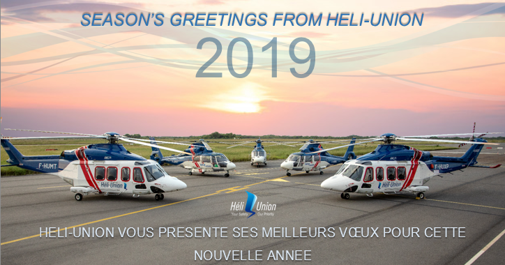 NEW YEAR'S GREETINGS: From Patrick MOLIS, Heli-Union CEO and Chairman
